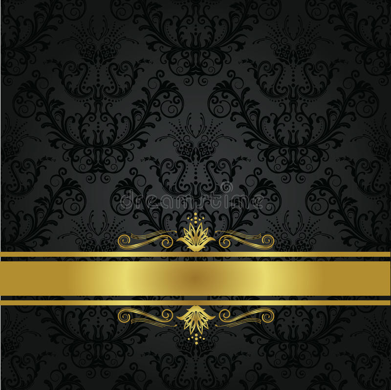 Free Luxury Charcoal And Gold Book Cover Stock Image - 19168451