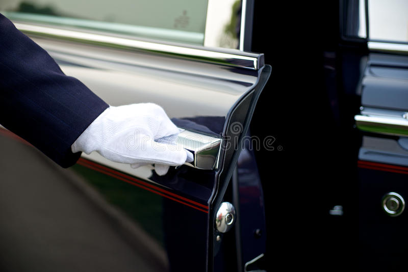 Luxury Chauffeur service stock photography