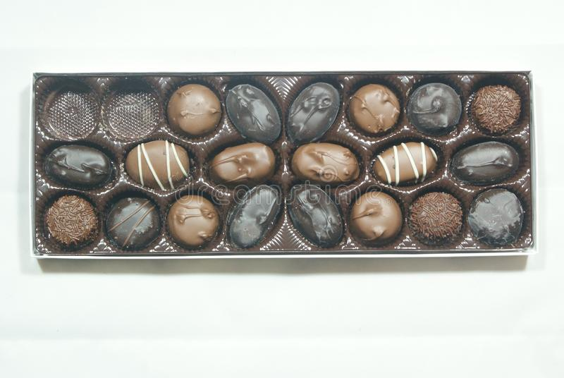 Luxury Chocolate Candy In A Box royalty free stock image