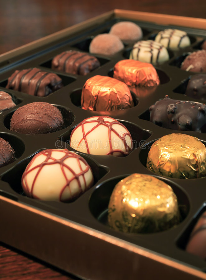 Luxury chocolates royalty free stock photography