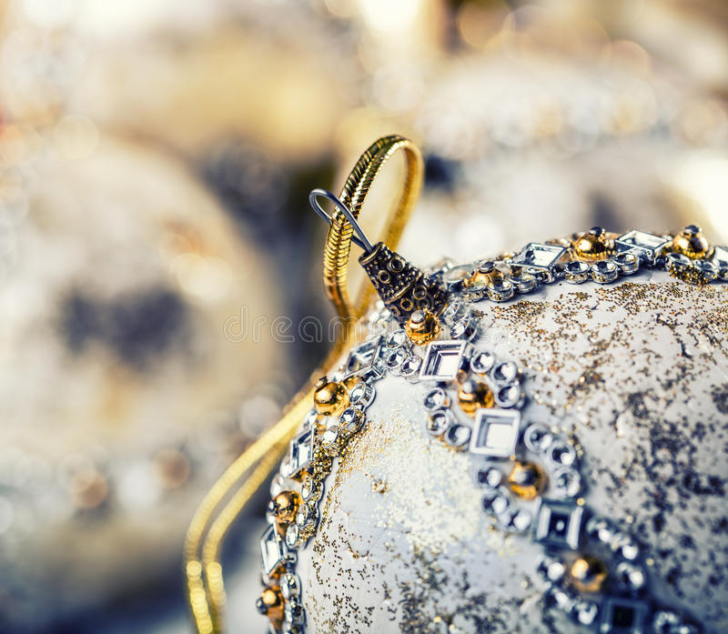 Luxury Christmas ball in the snow and snowy abstract scenes. Christmas ball on glitter background. Christmas time. Luxury Christmas ball in the snow and snowy stock photos