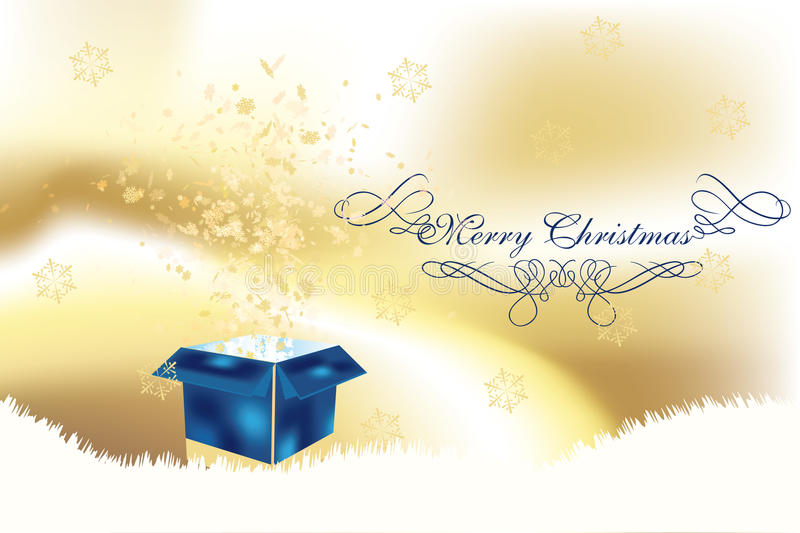 Download Luxury Christmas Card With Surpise Box Stock Illustration - Image: 21245454