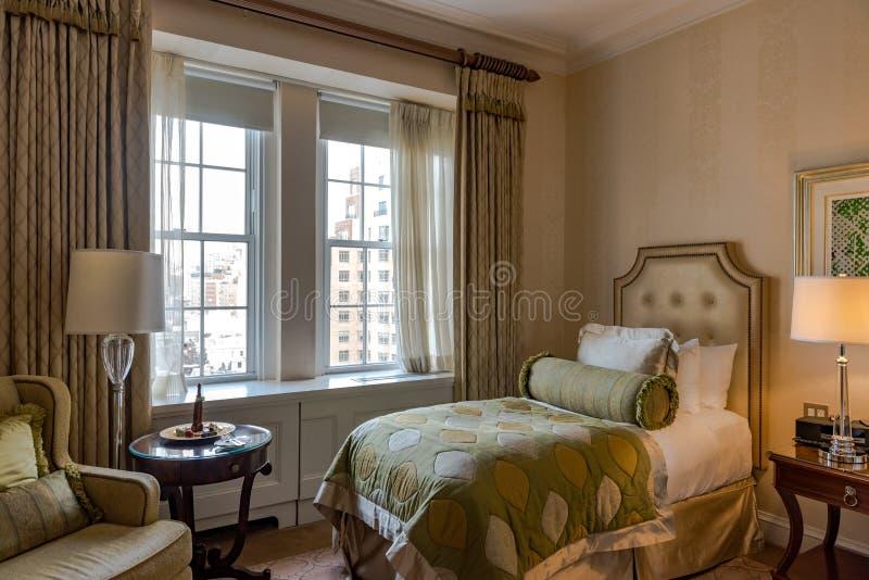 Luxury City Hotel Bedroom stock image