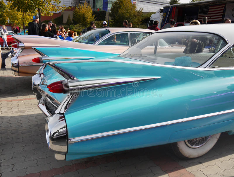 Vintage American Classic Car, Cadillac stock images