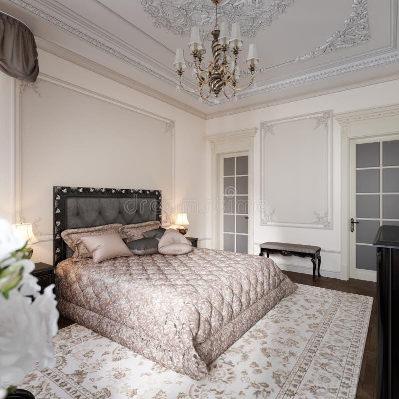 Luxury Classic Modern Bedroom Interior Design Stock