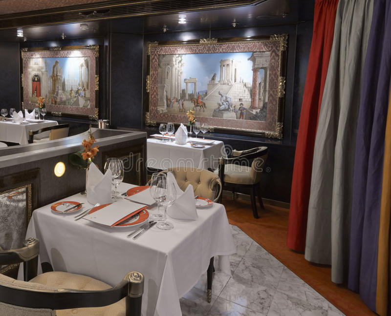 Luxury classic restaurant royalty free stock photos