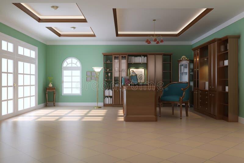 Luxury Classic Study Room Stock Illustration Image Of