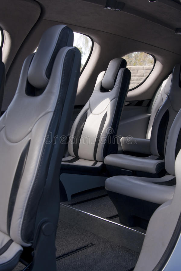 Free Luxury Commuter Jet Aircraft Seating Royalty Free Stock Image - 12865866