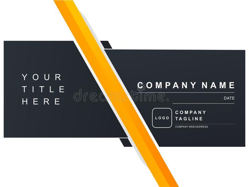 Luxury Company Presentation Navy Orange Dark Blue stock image