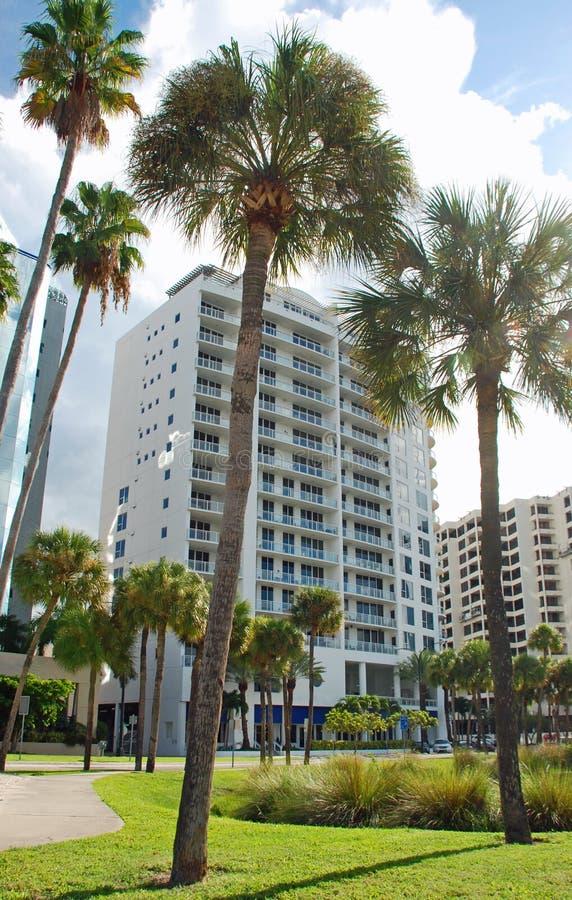 Luxury Condo Tower Sarasota Florida royalty free stock photography