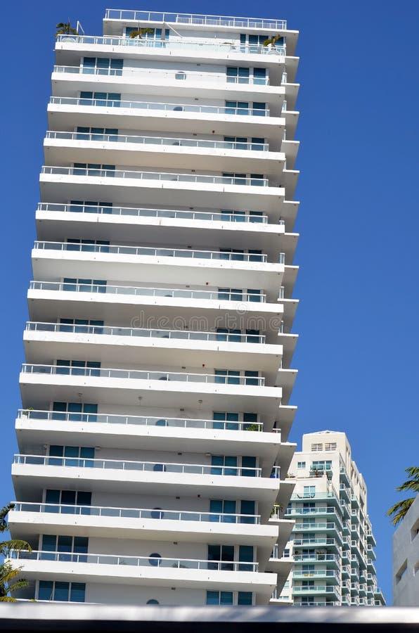 Luxury Condo Towers Overlooking the Florida Intra-Coastal Waterway. Luxury condominium towers overlooking the Florida Intra-Coastal Waterway in Mi Beach,Florida stock photography