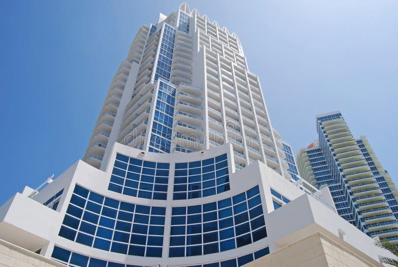 Luxury Condominium Towers. Multi-storied condominium apartment buildings in Miami Beach,Florida stock photography