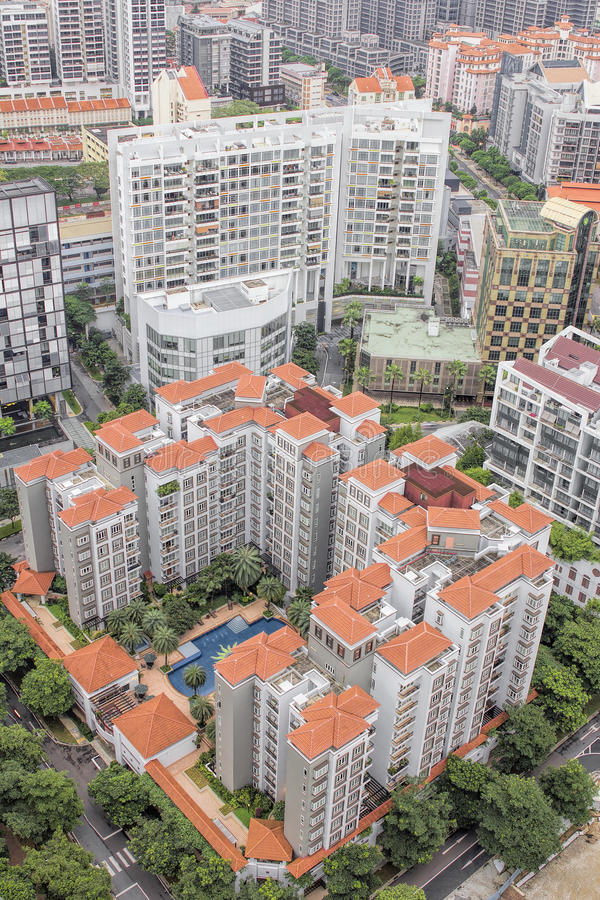 Luxury Condominiums Aerial View royalty free stock photography