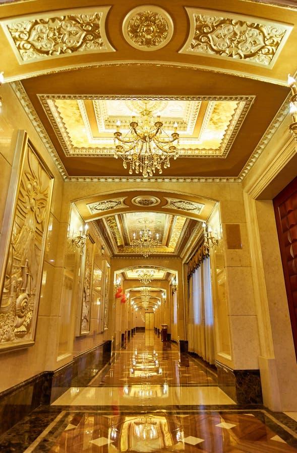 hotel corridor hallway royalty free stock photo