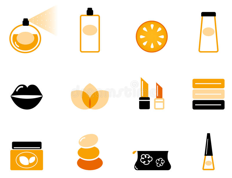 Luxury cosmetics and wellness icon set vector illustration