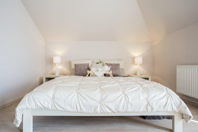 Luxury and cozy bedroom stock photo