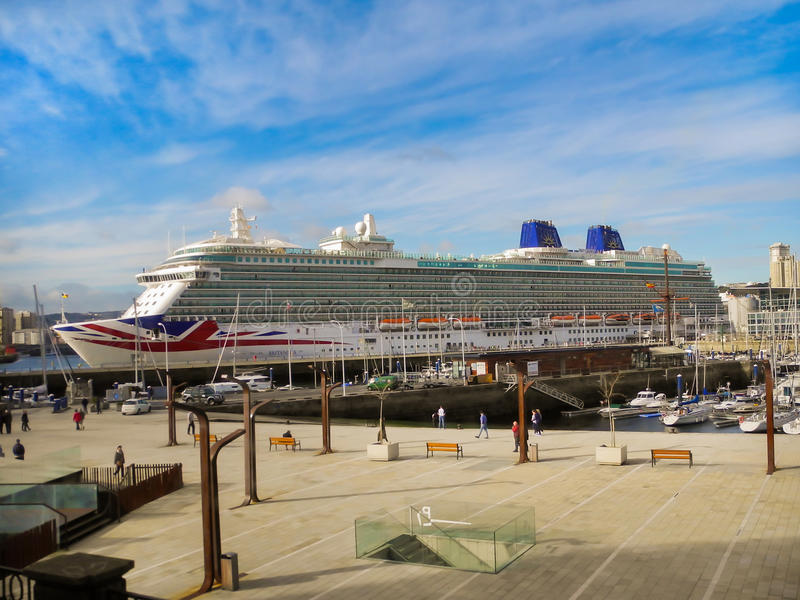 The luxury cruise `BRITANNIA` of P&O Cruises Company royalty free stock image