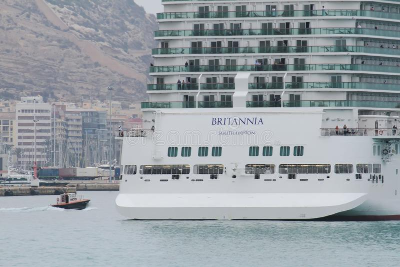 Big cruise Britannia of P&O Company royalty free stock image