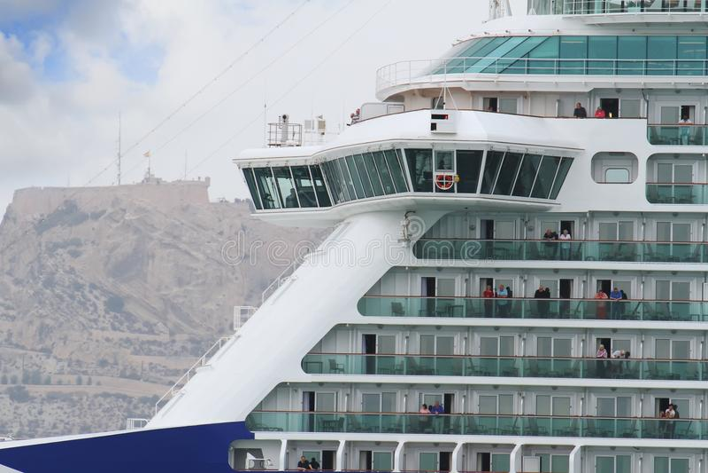Big cruise Britannia of P&O Company royalty free stock images