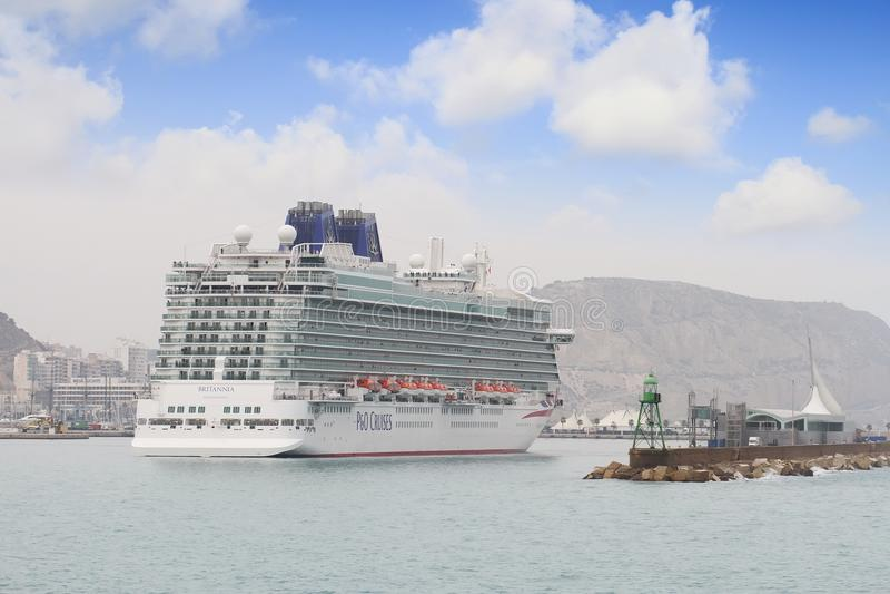 Big cruise Britannia of P&O Company stock images