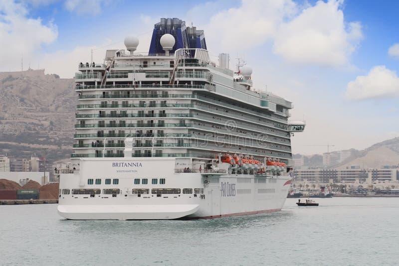 Big cruise Britannia of P&O Company royalty free stock photography