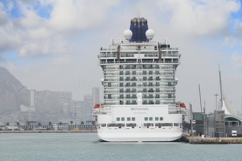 Big cruise Britannia of P&O Company stock image