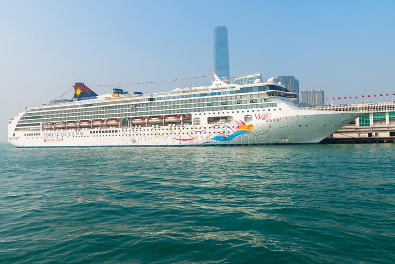 Luxury cruise liner, the Superstar Virgo from Star Cruises, Hong royalty free stock images