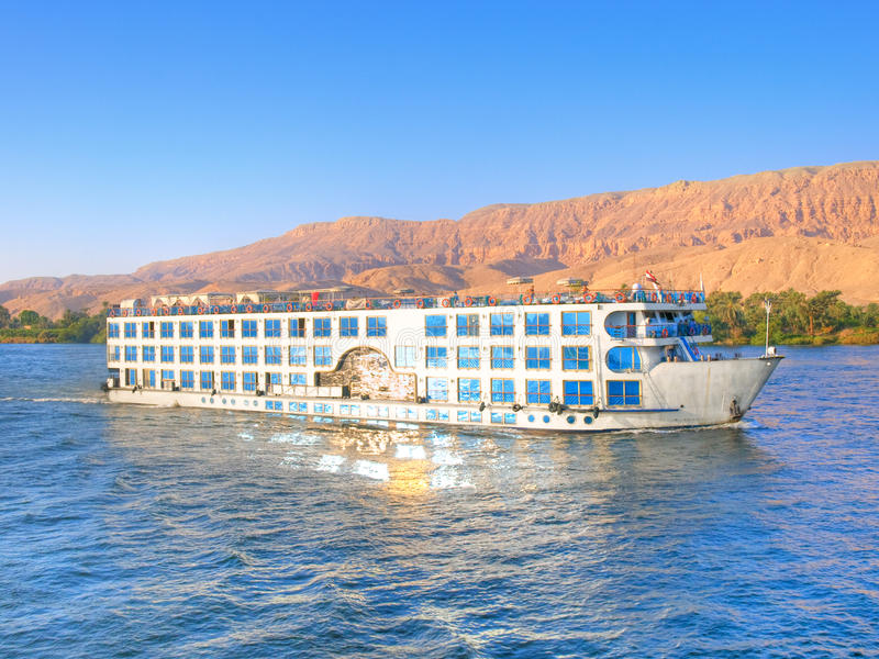 Luxury cruise on Nile royalty free stock photography
