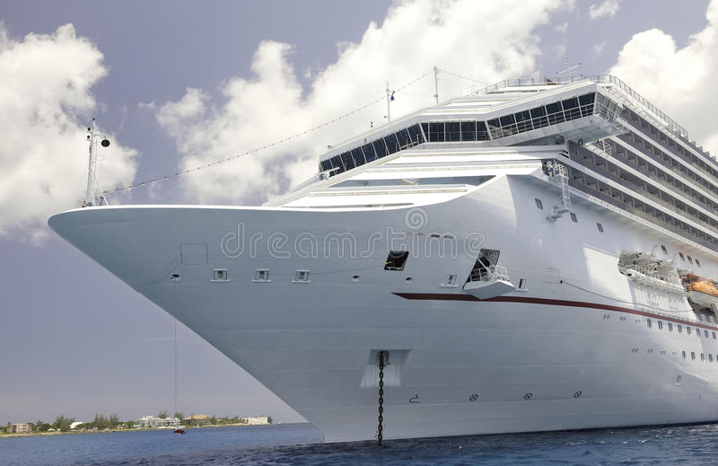 Luxury Cruise Ship in the Caribbean Sea royalty free stock images