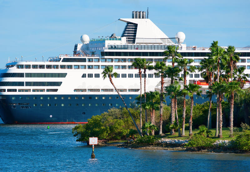 Download Luxury Cruise Ship Cruising By Island Stock Photo - Image: 23679642