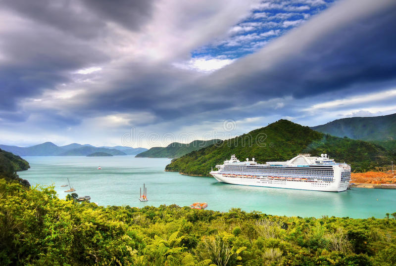 Luxury Cruise Ship royalty free stock photography