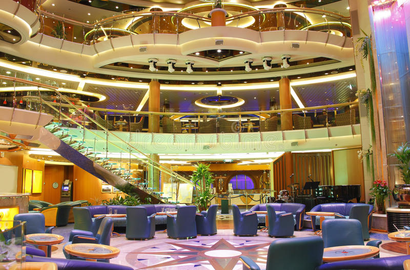Luxury Cruise Ship Interior Centrum Stock Photo