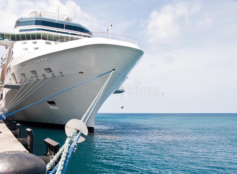 Luxury Cruise Ship Tied to Concrete Pier