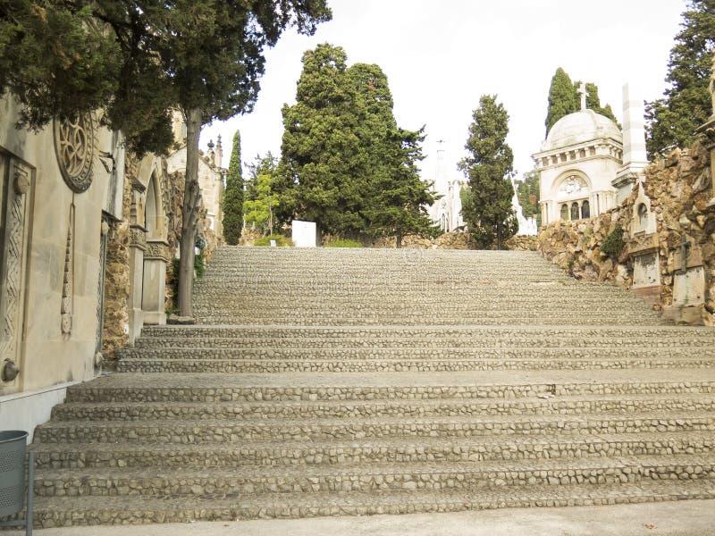 Luxury crypt on Montjuic Cemetery, Barcelona, Spain stock photo