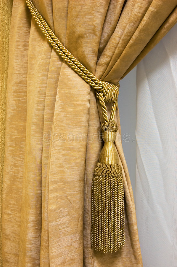 Luxury curtain. Picture of a luxury curtain royalty free stock photos