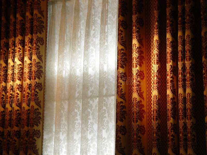 Luxury curtain royalty free stock photos