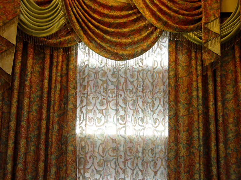 Luxury curtain stock photo