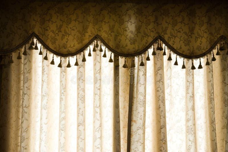 Luxury curtain stock photo