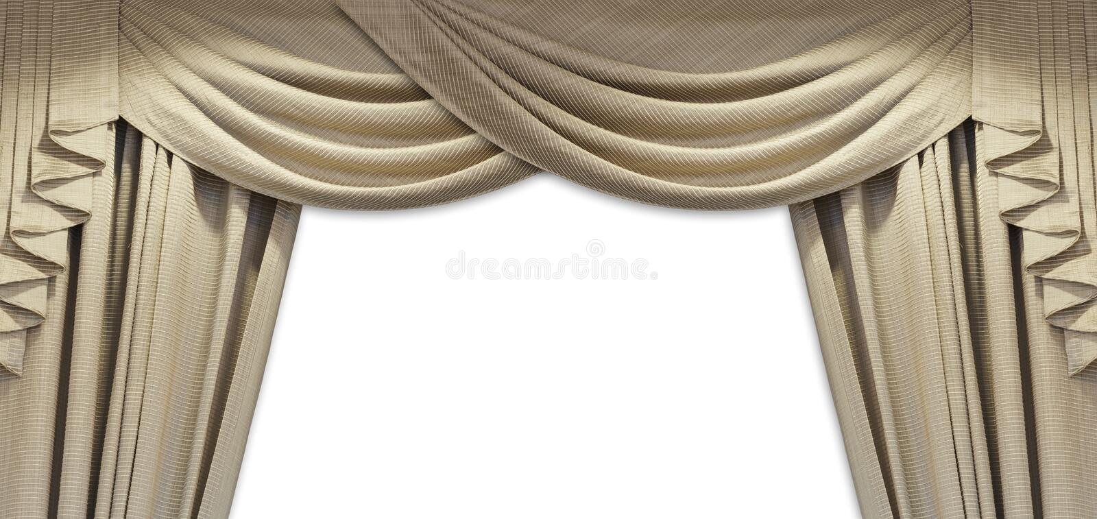 Luxury curtain. For any use royalty free stock photo