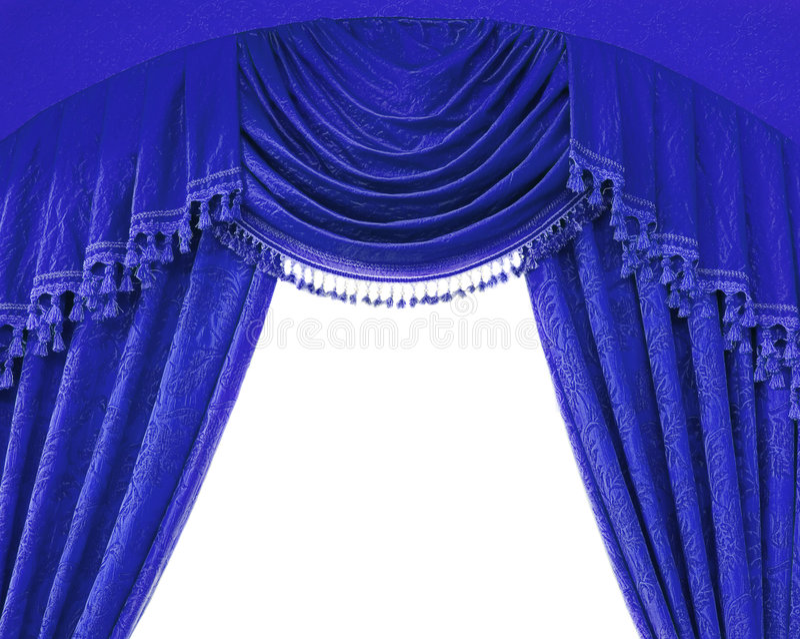 Luxury curtains stock photo