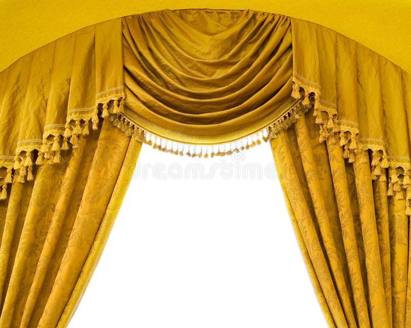 Luxury curtains with free space in the middle royalty free stock images