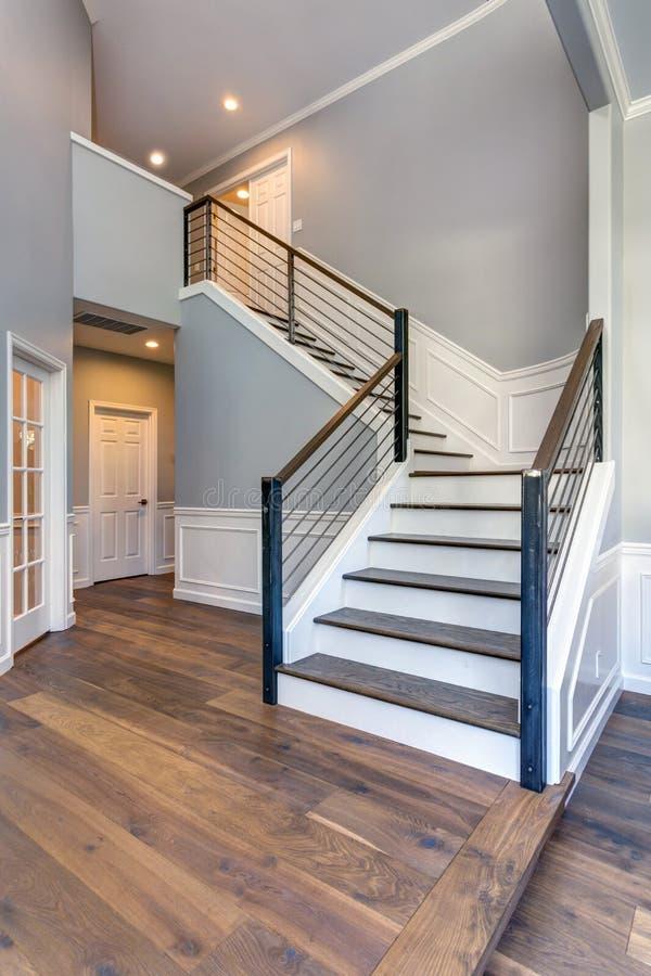 Luxury custom built home interior stock photos