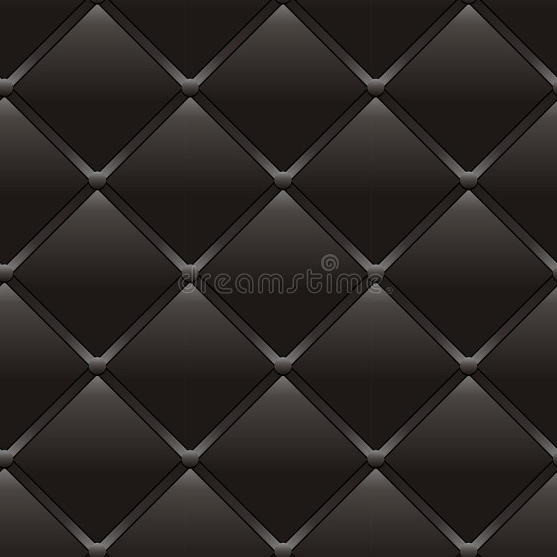 Luxury dark brown seamless leather pattern. Abstract seamless old style black background, vector illustration vector illustration