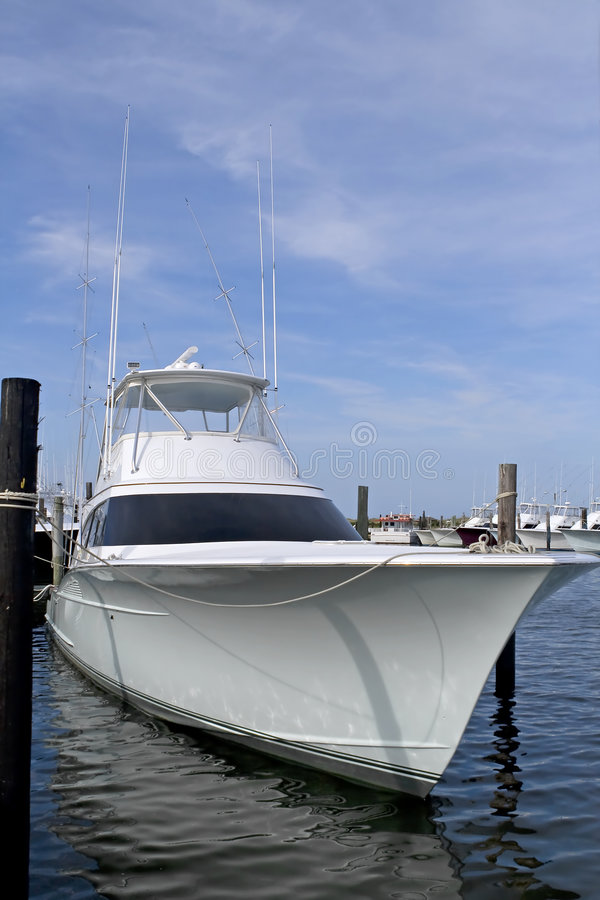 Luxury deep sea fishing boat royalty free stock photography