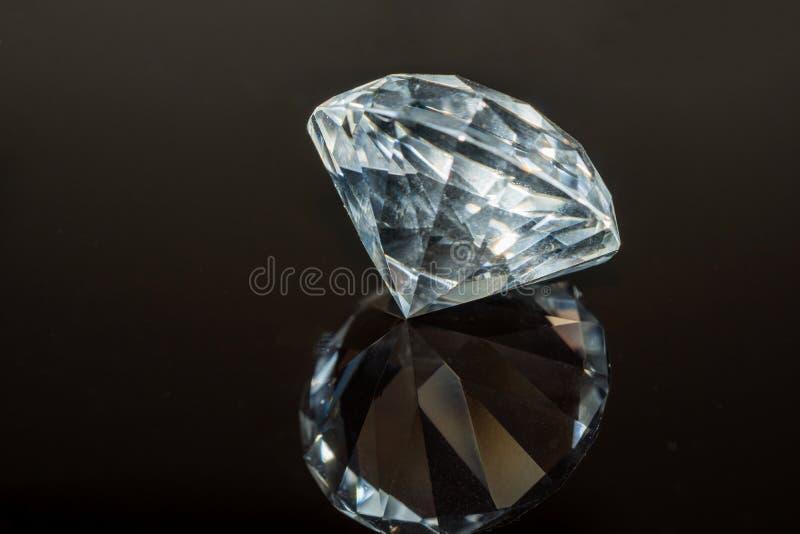Luxury diamond on black background. royalty free stock photo
