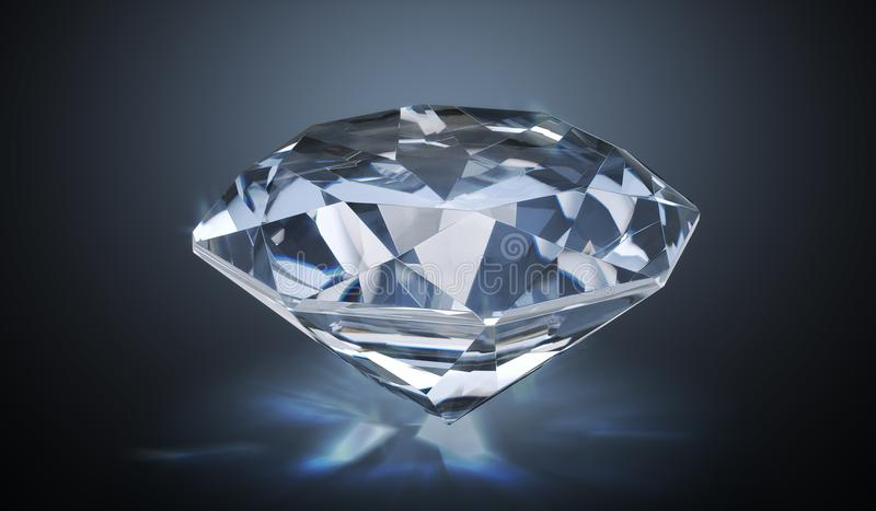 Luxury diamond on black background. 3D rendered illustration.  vector illustration
