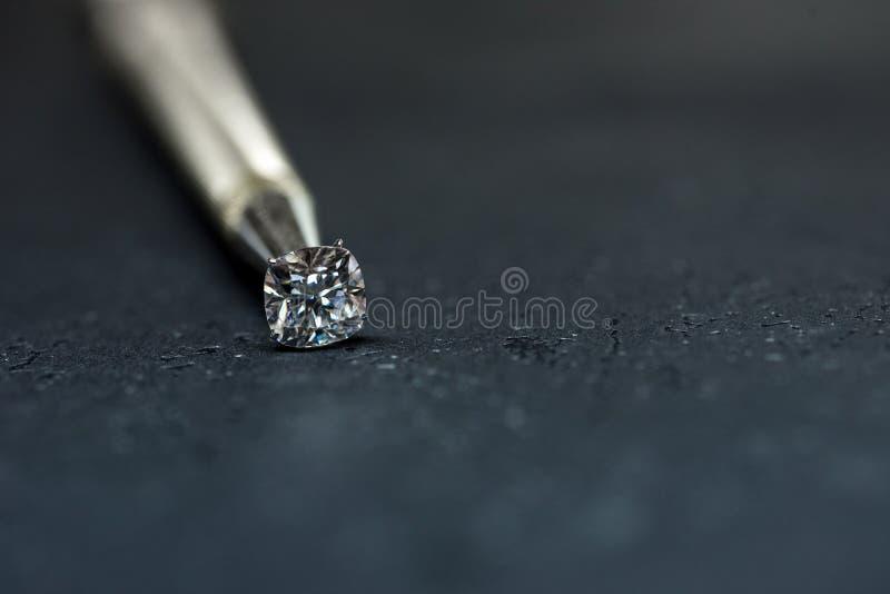 Cushion Cut Diamond royalty free stock photography
