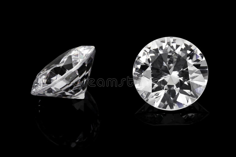 Luxury diamonds. On black backgrounds royalty free stock images