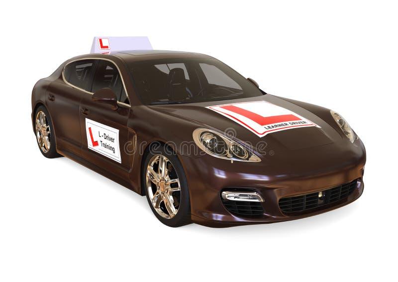 Luxury Driving school concept stock illustration