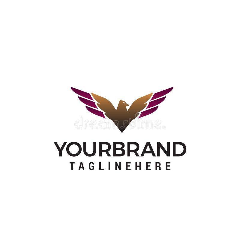 Luxury eagle logo design concept template stock illustration
